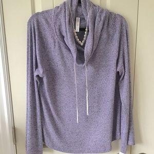 🆕💜Lavender Marled Cowl Neck Sweatshirt  Large